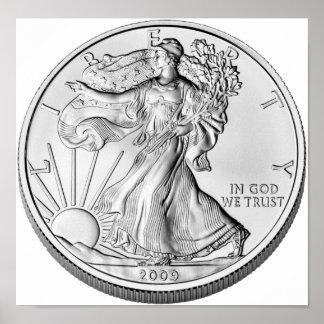 American Eagle Silver Bullion Coin Print