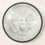 AMERICAN EAGLE SILVER DOLLAR-COASTER