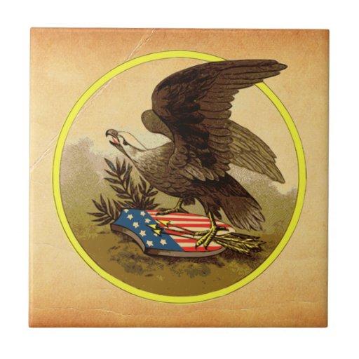 American Eagle Small Square Tile