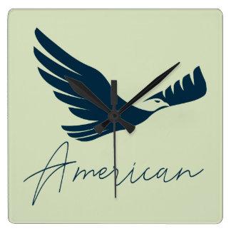 American Eagle 🦅 Square Wall Clock