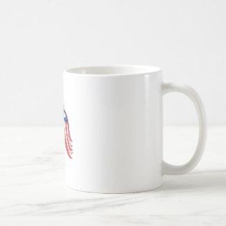 American Eagle Stars and Stripes Flag Shield Retro Coffee Mug