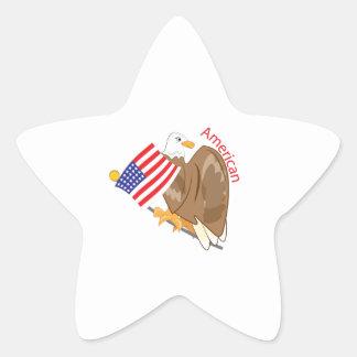American Eagle Star Sticker