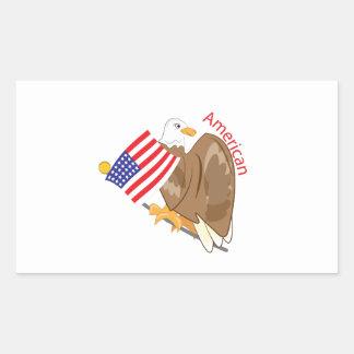 American Eagle Rectangular Sticker