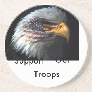 american eagle, Support, Our, Troops Drink Coaster