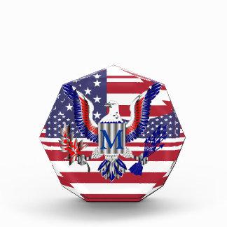 American eagle symbol and flag award