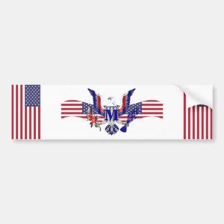 American eagle symbol bumper sticker