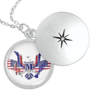 American eagle symbol locket necklace