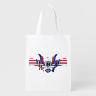 American eagle symbol reusable grocery bags