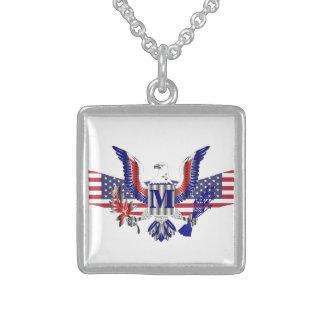 American eagle symbol sterling silver necklace