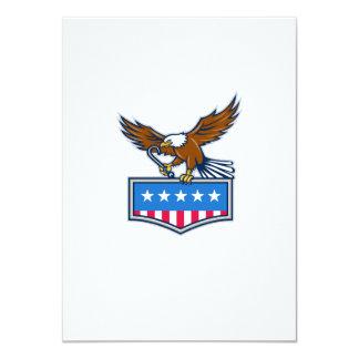 American Eagle Towing J Hook USA Flag Retro Card
