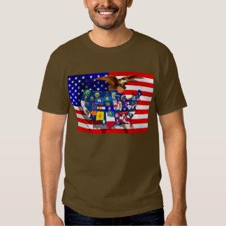 American Eagle US flag USA sports states Tee Shirts