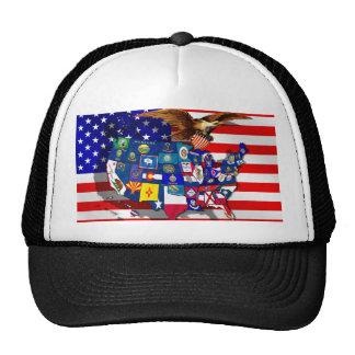 American Eagle US flag USA states Mesh Hat