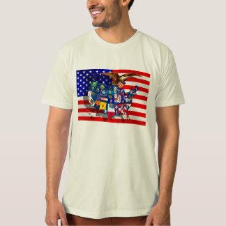 American Eagle US flag USA states Shirt