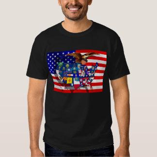American Eagle US flag USA states Shirts