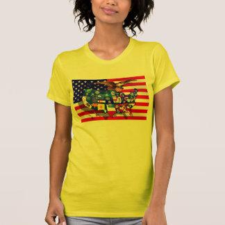American Eagle US flag USA states T-shirts