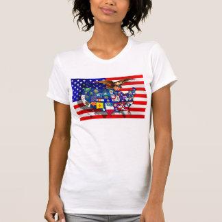 American Eagle US flag USA states T Shirts