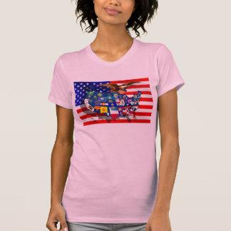 American Eagle US flag USA states Tee Shirt