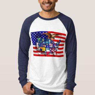 American Eagle US flag USA states Tee Shirts