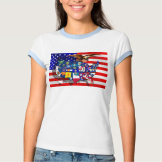 American Eagle US flag USA states Tees