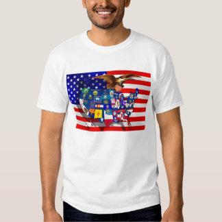 American Eagle US flag USA states Tshirt