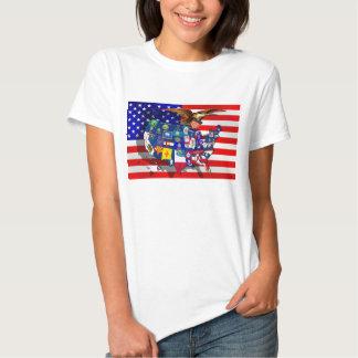 American Eagle US flag USA states Tshirts