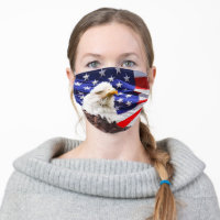 American Eagle USA Flag Cloth Face Mask