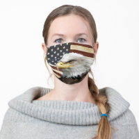 American Eagle & Vintage USA Flag Cloth Face Mask