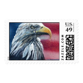 American Eagle Weeps Stamps