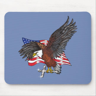 American Eagle with Cross Mouse Pad