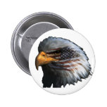 American Eagle with Flag Pinback Button