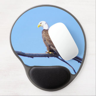 American Eagle with Nebraska blue sky. Gel Mouse Pad