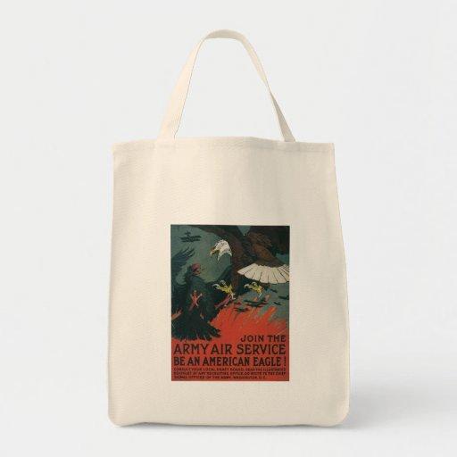 American Eagle World War 2 Tote Bag