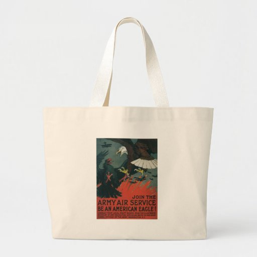 American Eagle World War II Tote Bags