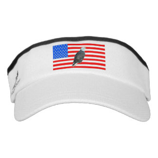American Eagle y bandera americana Visera