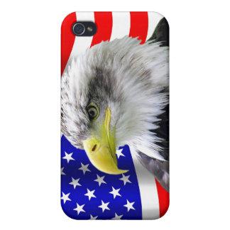 American Eagle y caja patriótica iPhone4 de la ban iPhone 4 Fundas