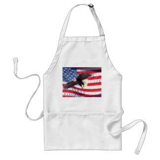 American Eagle y delantal de la bandera