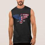 American Eagle y diseño de la bandera. Camiseta si Playera Sin Mangas