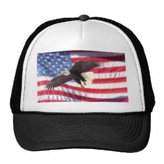 American Eagle y gorra de la bandera