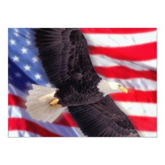 American Eagle y invitación de la bandera Invitación 13,9 X 19,0 Cm