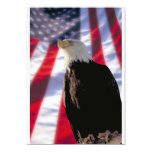 American Eagle y invitación de la bandera