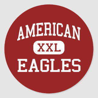 American - Eagles - High - Fremont California Classic Round Sticker