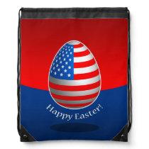 American Easter Drawstring Backpack