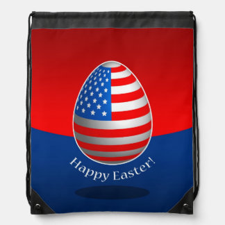 American Easter Drawstring Bag
