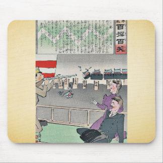 American editor surprised by Kobayashi,Kiyochika Mouse Pad