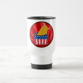 American election ballot box map of USA 15 Oz Stainless Steel Travel Mug