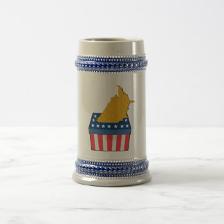 American election ballot box map of USA 18 Oz Beer Stein