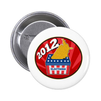 American election ballot box map of USA 2012 Pins