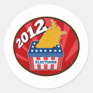 American election ballot box map of USA 2012 Classic Round Sticker