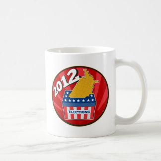 American election ballot box map of USA 2012 Classic White Coffee Mug
