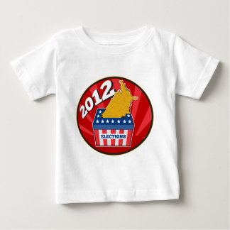 American election ballot box map of USA 2012 T Shirt